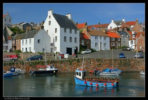 Fife's harbor, where soon local residents will be sailing off in search of a new town, free from roofs tiled in used nappies