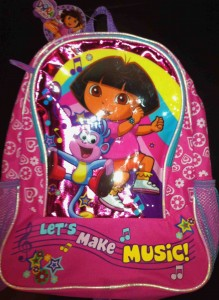 This Dora backpack contains phthalate levels 69 times the limit set by the federal ban.